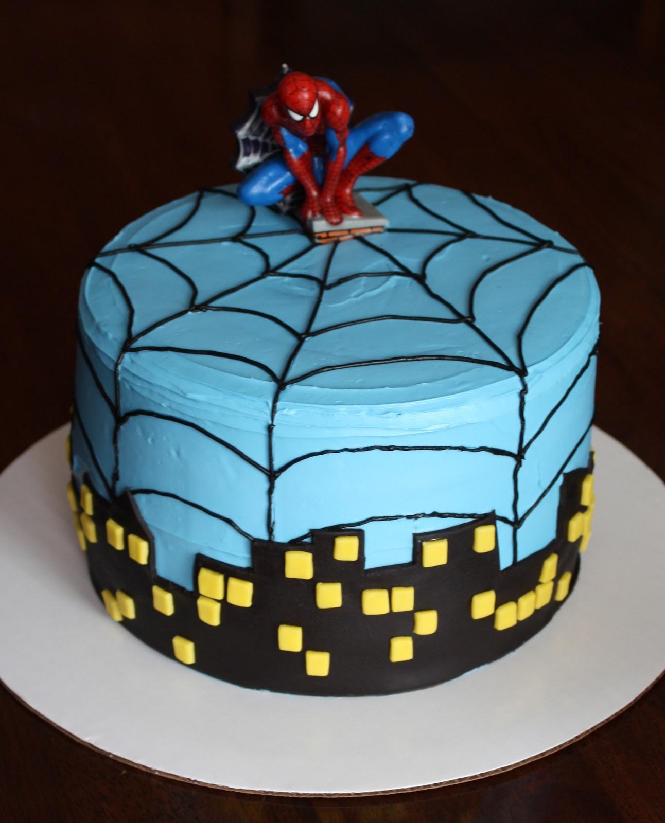 Straight To Cake: Spiderman 4th Birthday