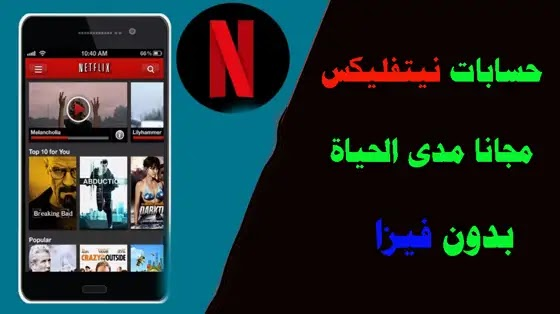 حساب netflix مجانا بدون فيزا, موقع يوزع حسابات Netflix, حساب Netflix مدفوع, ربح حسابات netflix