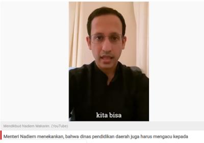 Guru Dianggap Bebani Siswa Dengan Tugas Online, Nadiem: Kejarlah Kualitas