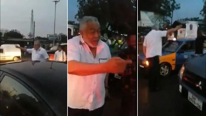 Viral video shows ex-Ghana president Jerry John Rawlings helping decongest traffic