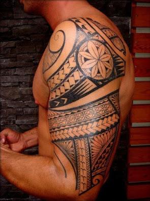 tick on Black Temporary Tattoo Maori Tribal Body Art Sticker