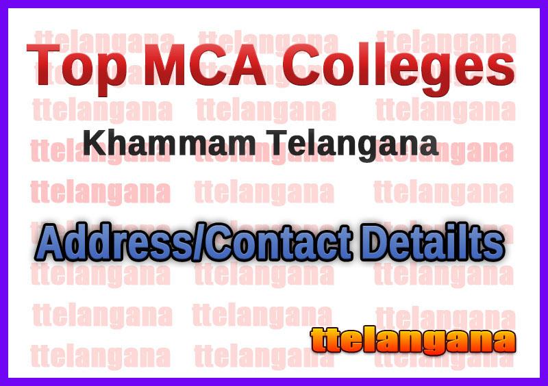 Top MCA Colleges in Khammam Telangana