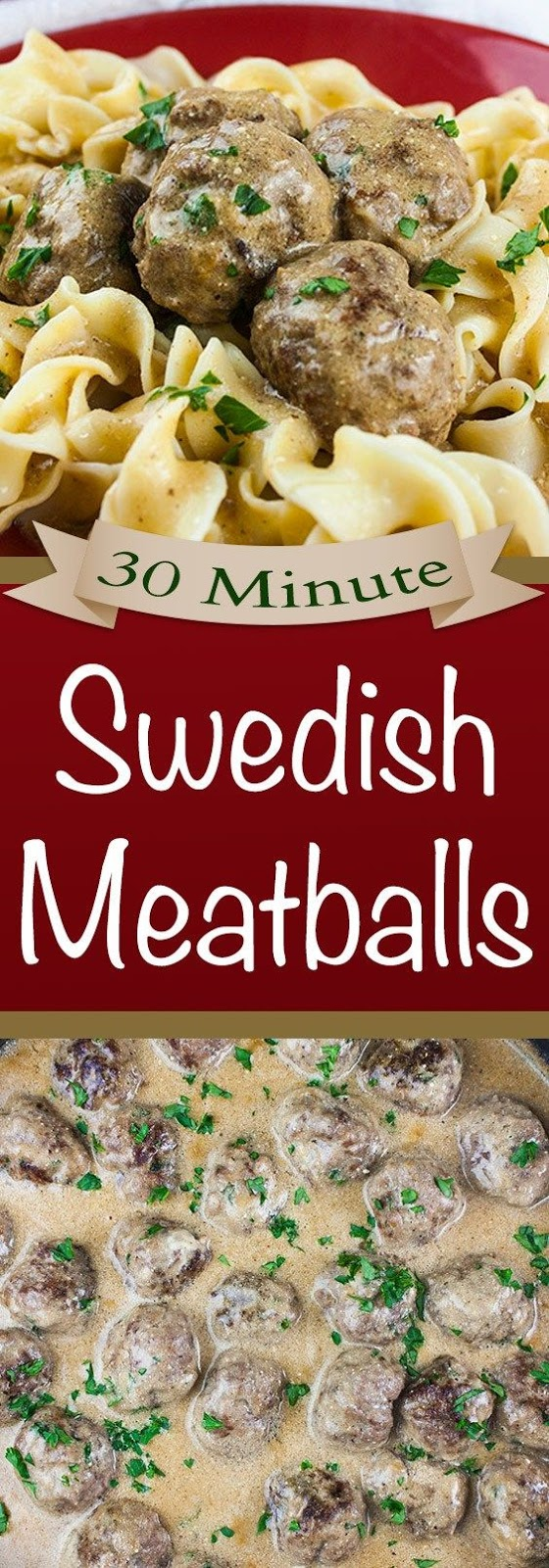 30 Minute Swedish Meatballs