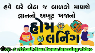 Std 9 Virtual class daily Home Learning Video