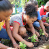 Niños y niñas participaron en la segunda jornada de siembra del parque Ródrigo Campbell