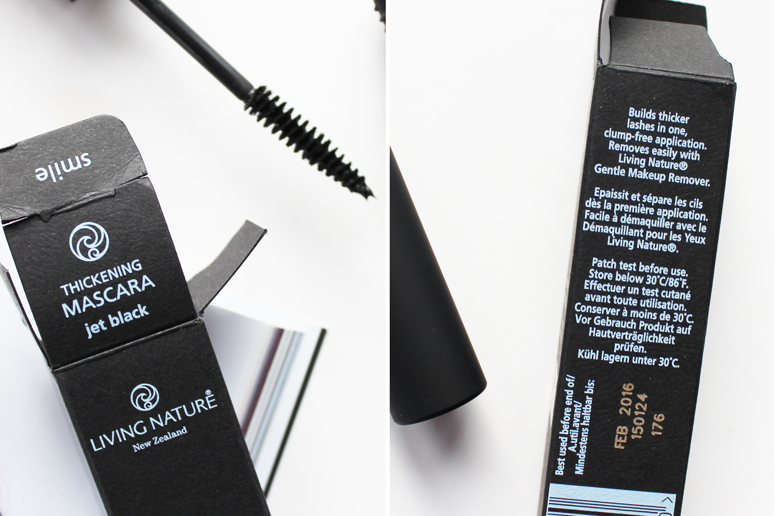 LIVING NATURE | Thickening Mascara in Jet Black - Review - CassandraMyee