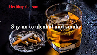 Say big no to Alcohol and smoke to control high BP