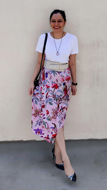 brunch outfit, kimono wrap skirt, casual style, mumbai streetstyle, floral fashion, rewear, restyle, repeatwear, slow fashion