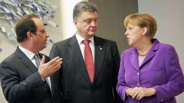 A big diplomacy day in Ukraine - the US Secretary of State, the German Chancellor and the French President visit Kiev.