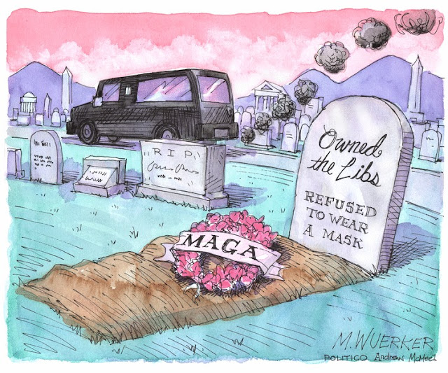 Hearse pulling away from grave bearing a