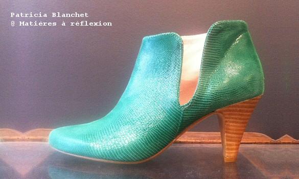 ankle boots patricia blanchet pl55 vertes mati res r flexion paris. Black Bedroom Furniture Sets. Home Design Ideas