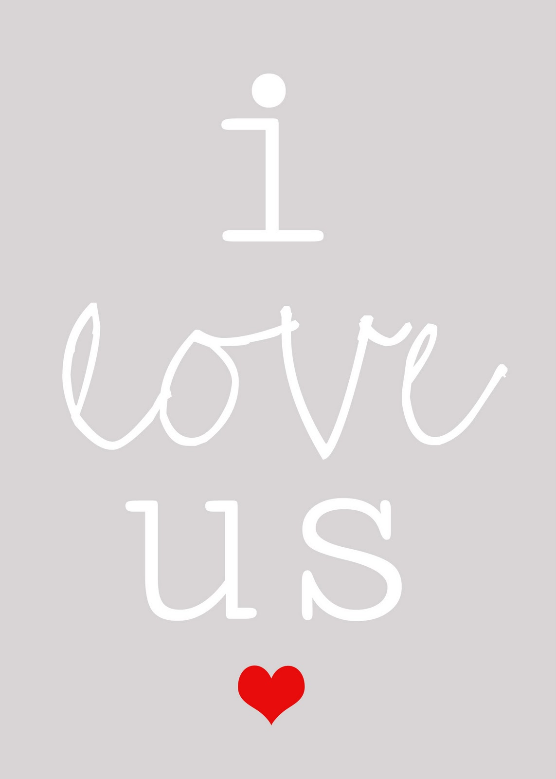 Lovely Little Snippets I Love Us Free Printable