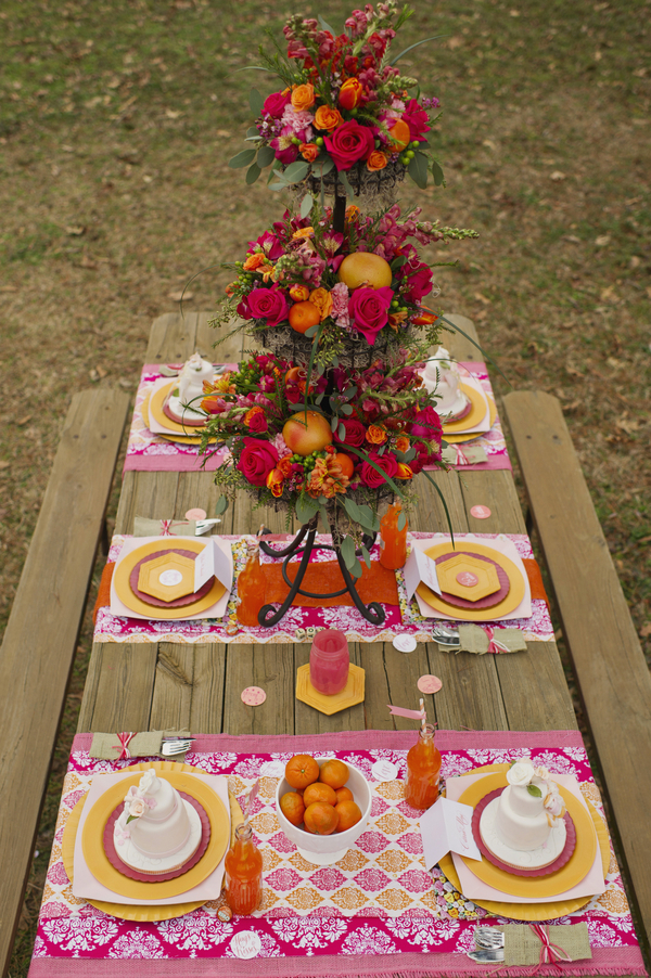 bride+groom+boho+bohemian+chic+orange+pink+yellow+rustic+valentine+valentines+day+february+winter+spring+wedding+cake+bouquet+petticoat+dress+gown+table+setting+floral+arrangement+centerpiece+tangerine+melissa+mccrotty+photography+28 - The Valentine Ombre