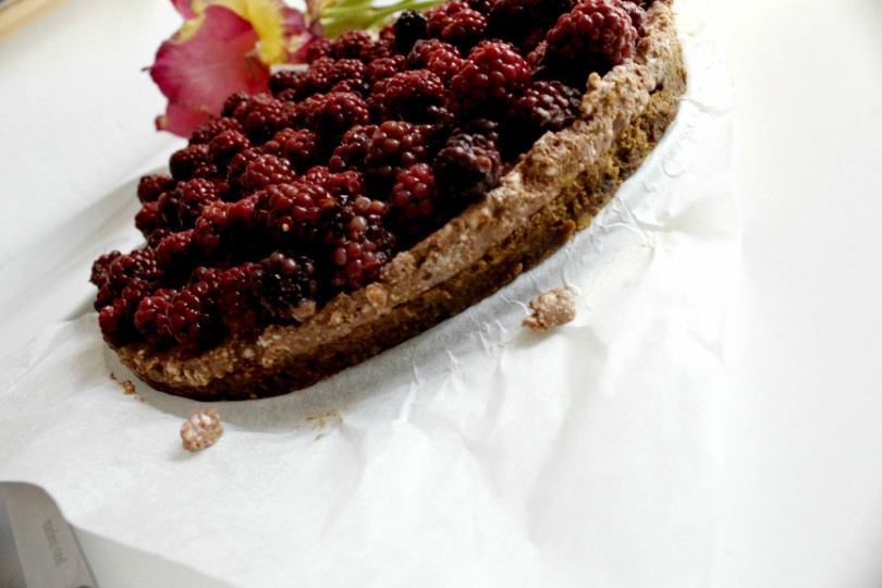 Pumpkin and blackberry cheesecake - healthy recipe