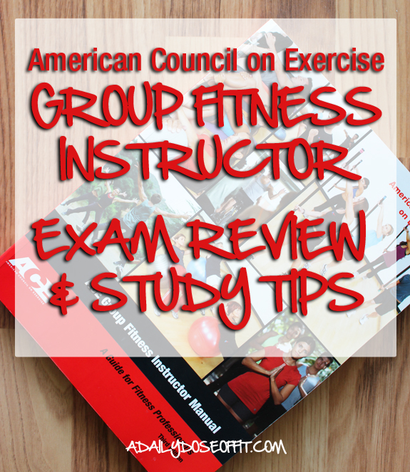 group ex, fitness professional, fitness certification, American Council on Exercise, group fitness exam review, study tips