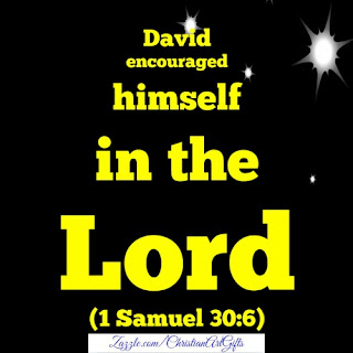 David encouraged himself in the Lord 1 Samuel 30:6