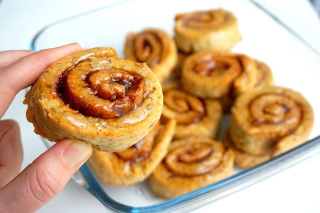 cinnamon+rolls+sin gluten+vegan