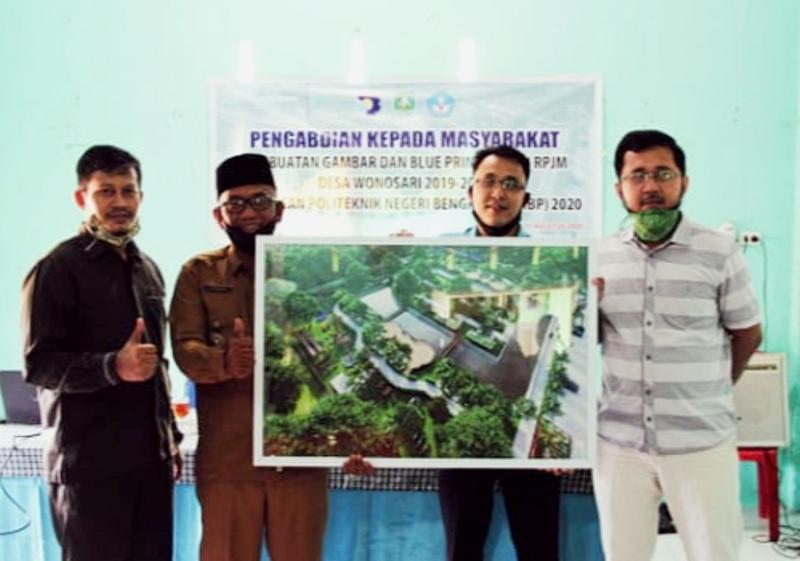 Bentuk Pengabdian Kepada Masyarakat, Polbeng Serahkan Blue Print Desain RPJM Desa Wonosari