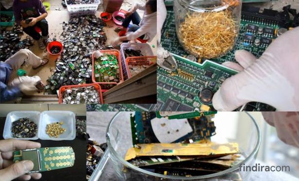 Mendulang Emas dari Sampah Elektronik