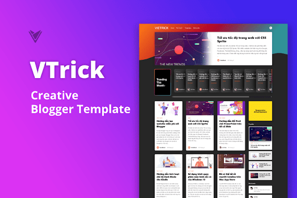 Share free VTrick – Creative Blogger Template