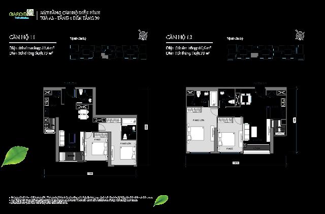 căn 11, 12 từ tầng 4 đến tầng 39 tòa A3 The Arcadia Vinhomes Gardenia