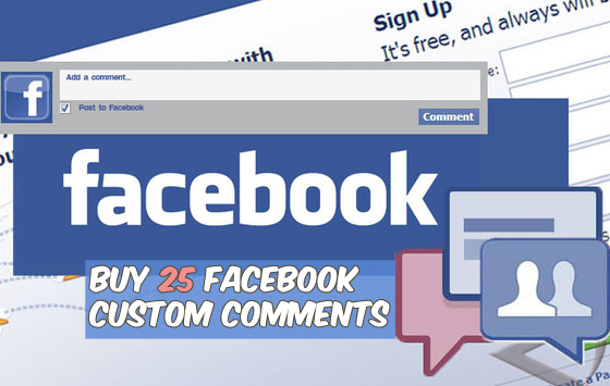 Buy 25 Facebook Custom Comments
