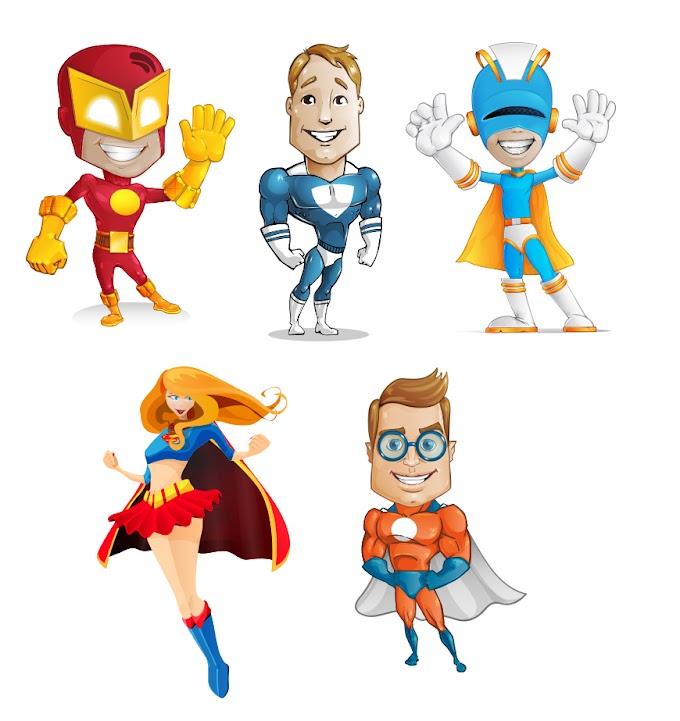 Super Hero PNG Images Set