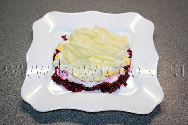 рецепт салата из свеклы с яблоком с пошаговыми фото