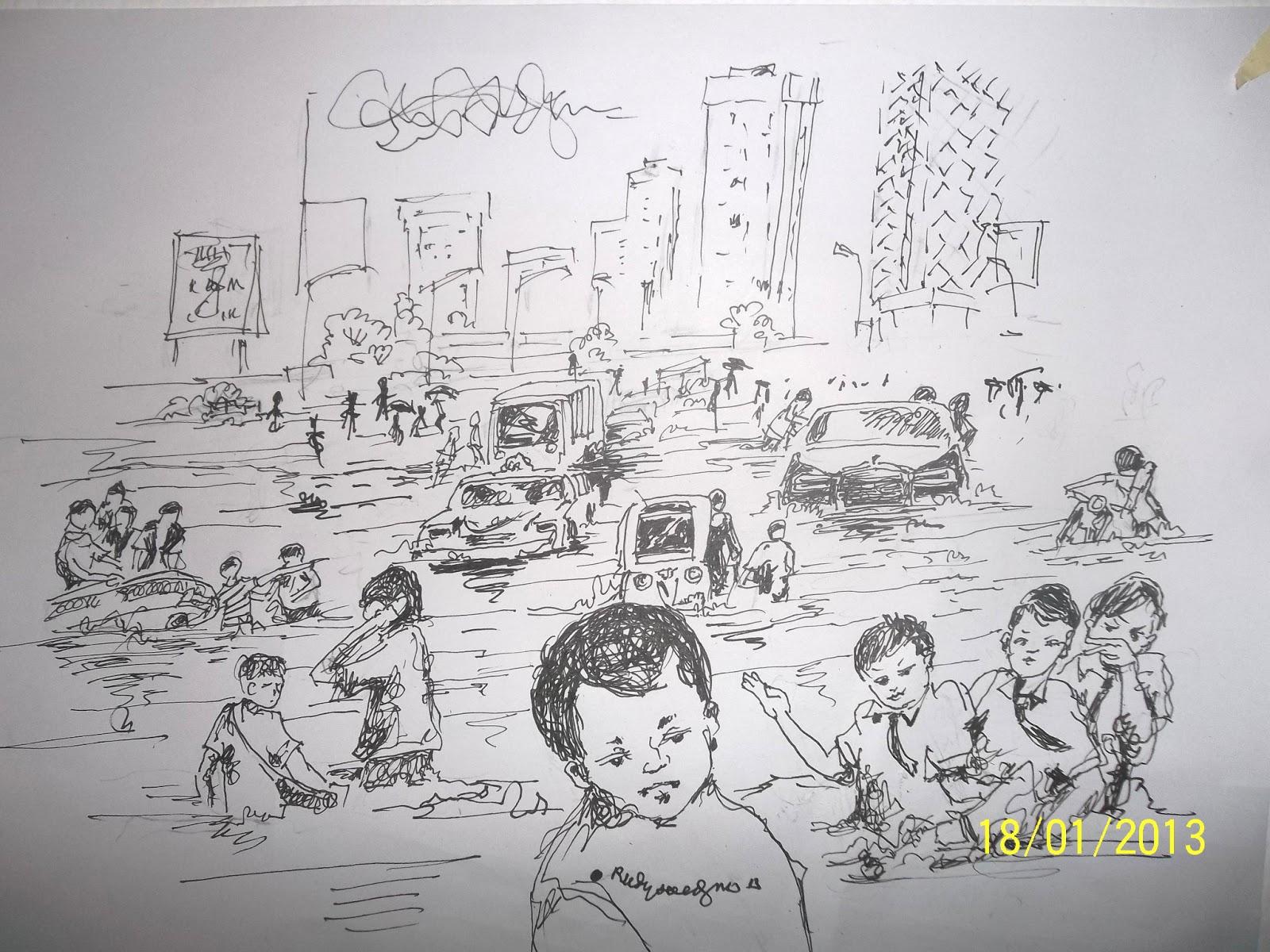 30 Ide Keren Gambar Sketsa Rumah Banjir Tea And Lead