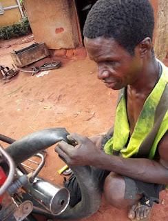 Emeka, Blind mechanic