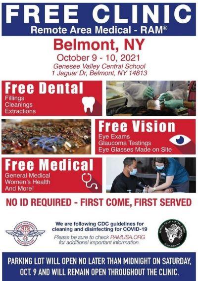10-9/10 Free Medical Clinic, Belmont, NY