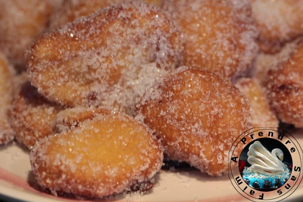Beignets champenois au fromage blanc sauce à la mangue