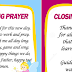 Opening and Closing Prayers in School (Ready to Print)