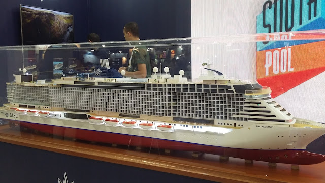 Maquete do MSc Sea View exposta na AbavExpo