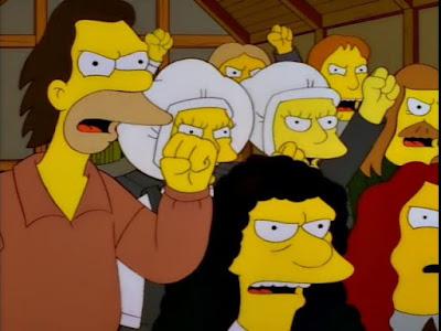 angry mob simpsons