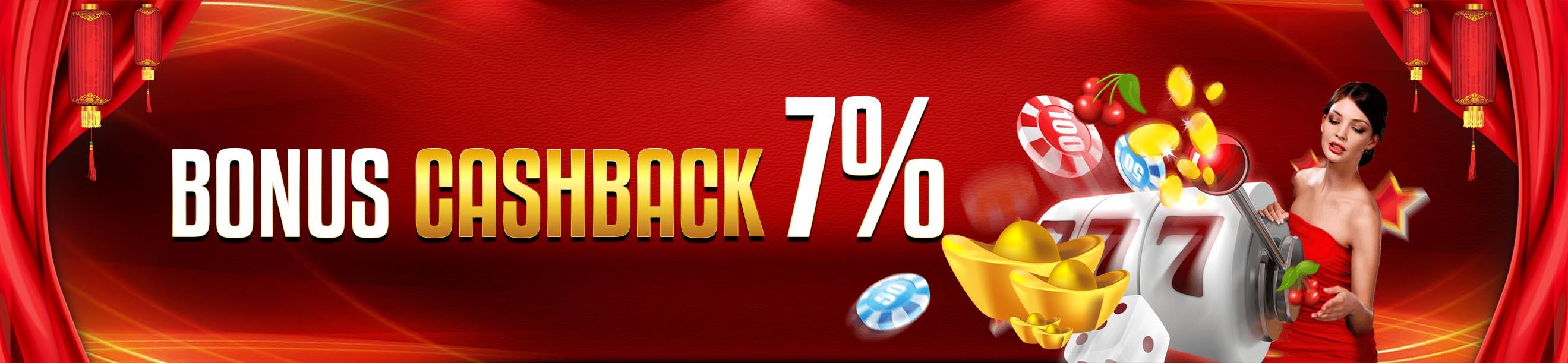 BONUS CASHBACK MINGGUAN 7%