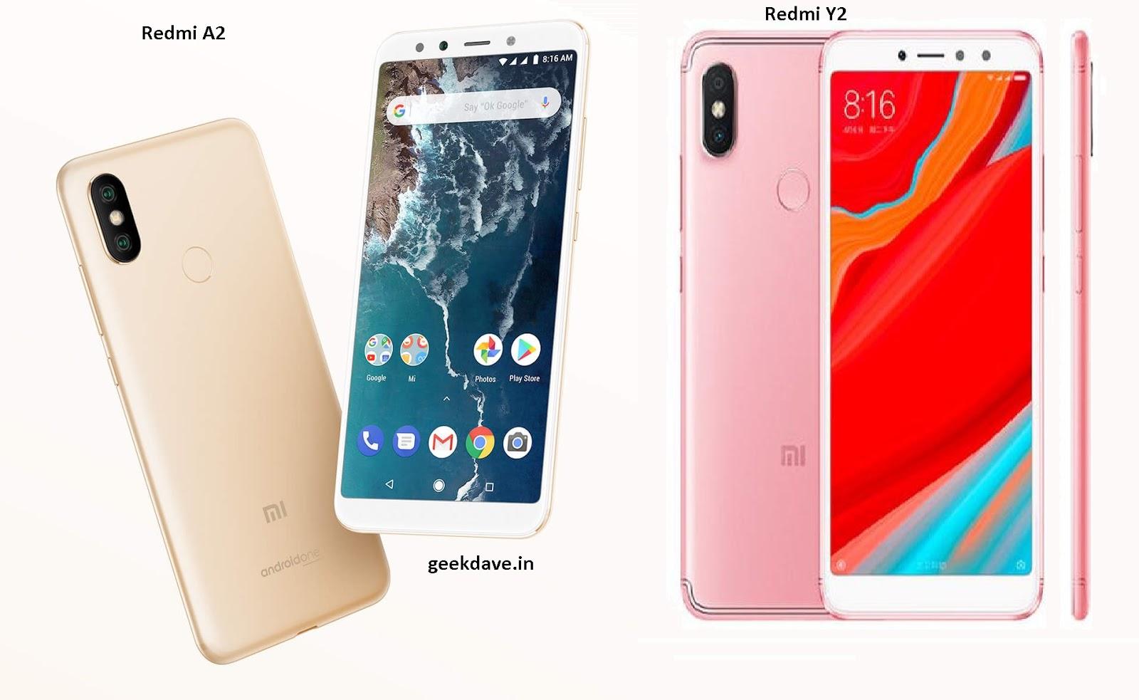 Which Smartphone is better? : Xiaomi Redmi Y2(s2) vs Xiaomi Mi A2(Mi 6X) comparison 2018
