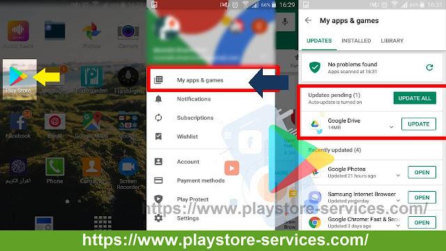 تحديث تطبيقات Android على جوجل Play