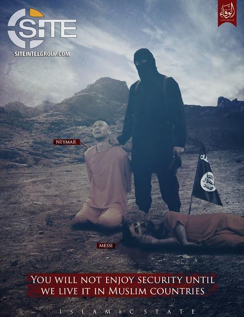 Material de propaganda de grupo pró-Estado Islâmico (Foto: Reprodução/Site Intel Group)