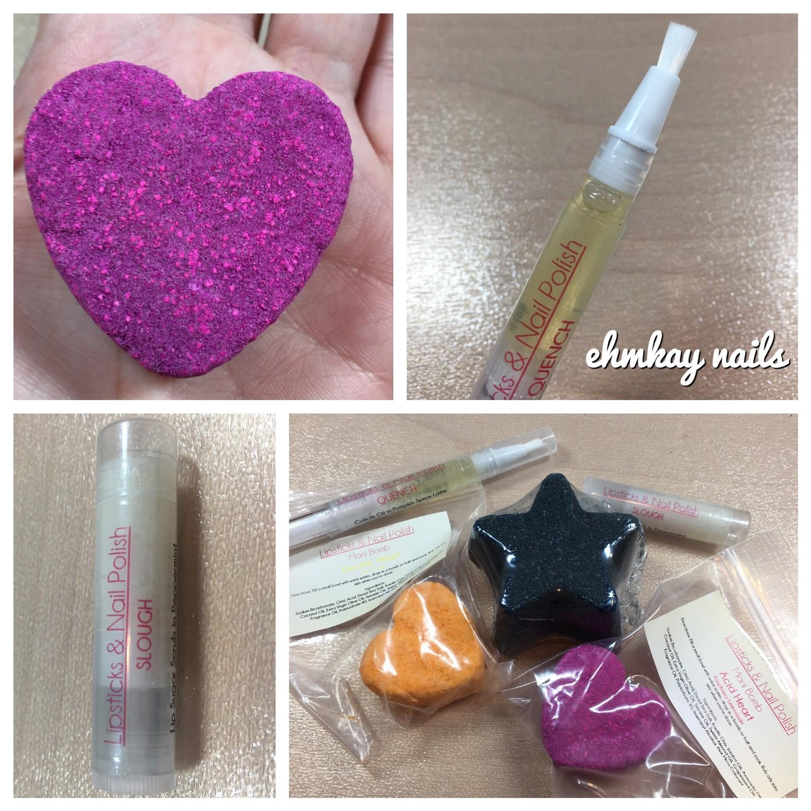 ehmkay nails: Lipsticks and Nail Polish Mani Bombs, Lip Slough, and ...