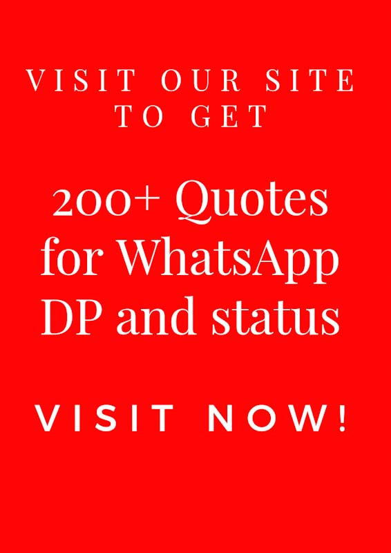 200 Unique Quotes And Thoughts For Whatsapp Dp Status