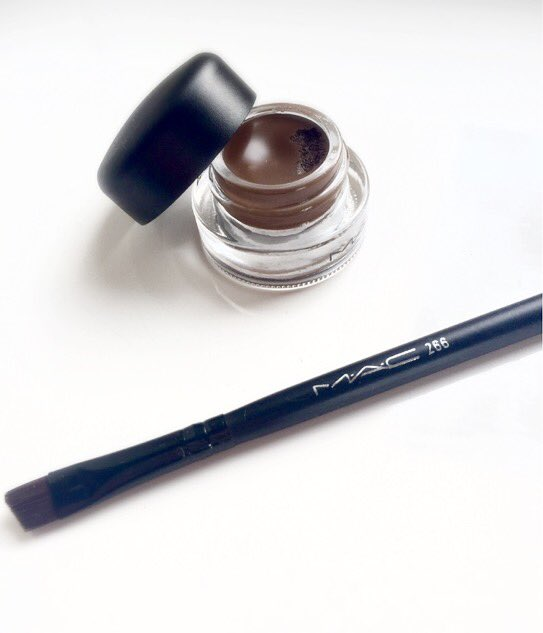 MAC Fluidline Brow Gelcreme and MAC 266 brush