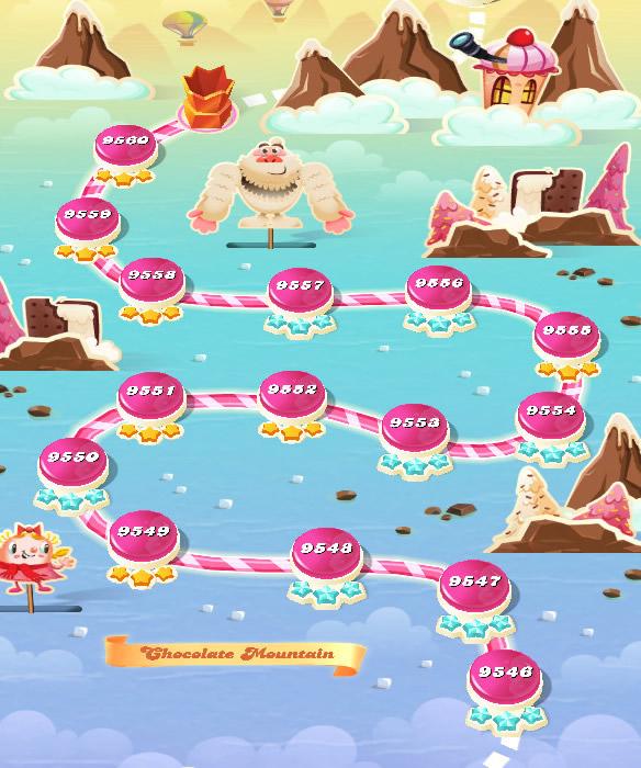 Candy Crush Saga level 9546-9560