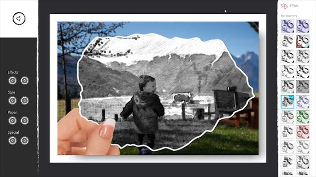 تحميل برنامج تأثيرات الصور Pic Sketch for windows 10