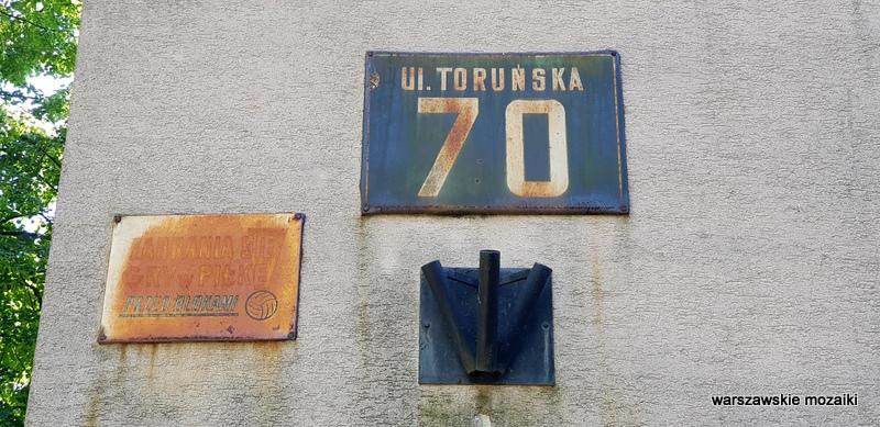Warszawa Warsaw szyld retro tabliczka Praga Północ