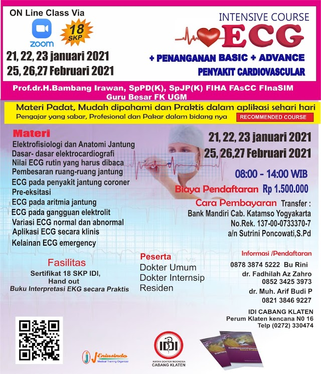 Pelatihan EKG 2021 (Intensive ECG Course Basic and Advance)