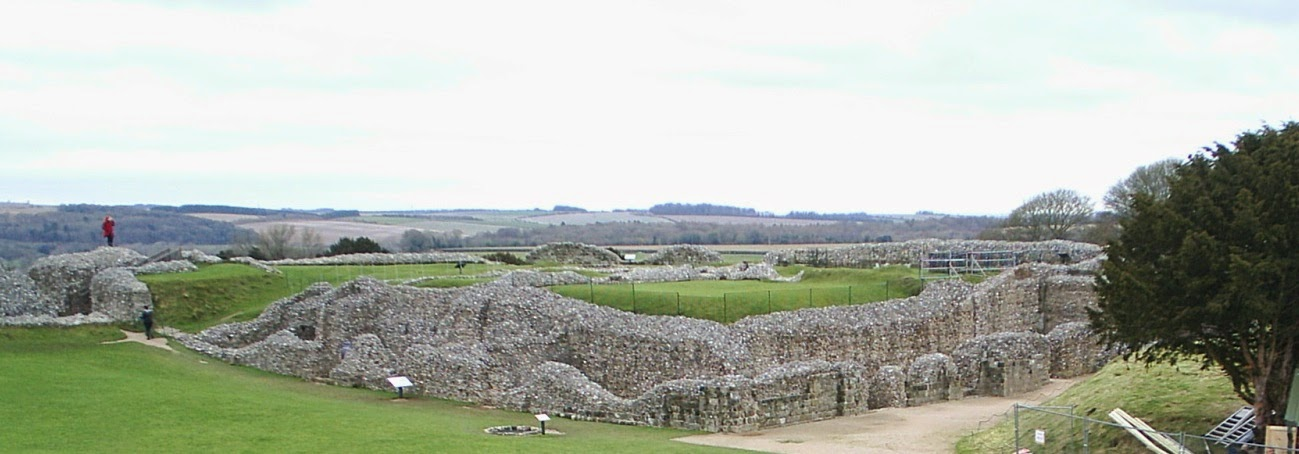 Old Sarum Castle panoramic view