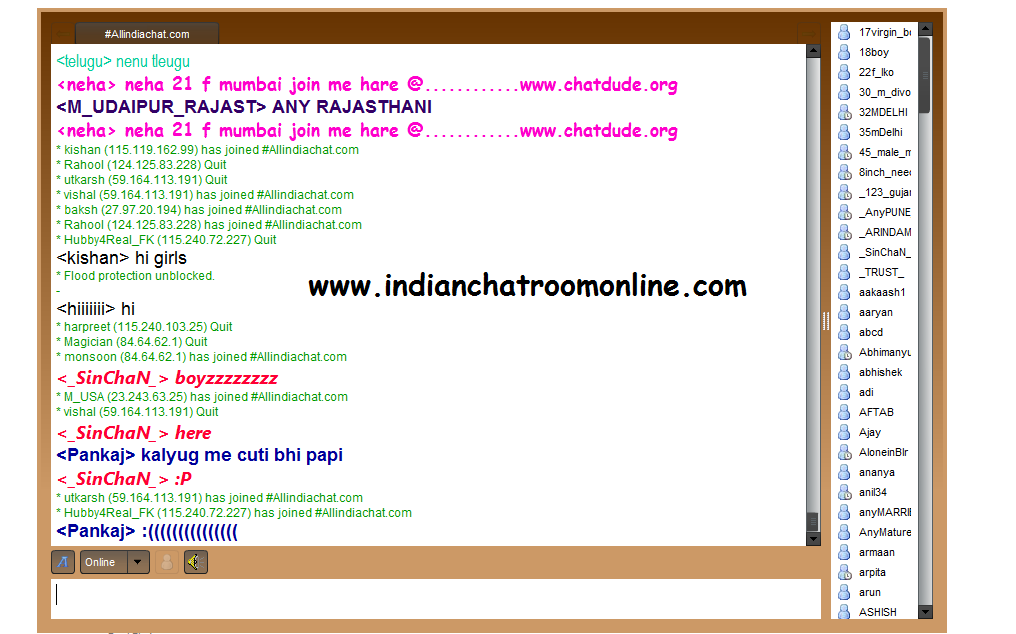 Online indian chat