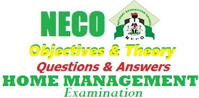 2017 NECO Home Management Questions & Answers OBJ/Theory (Expo/Runz)