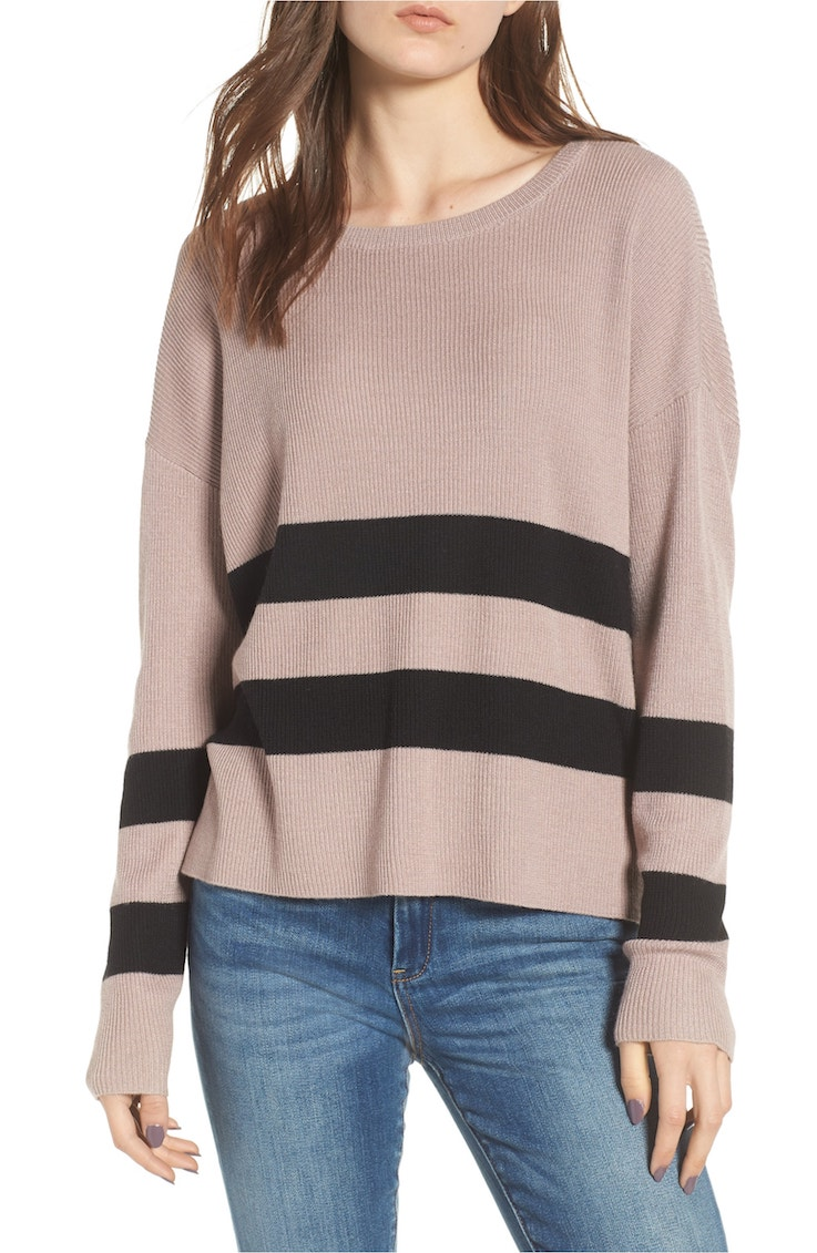 varsity stripe sweater